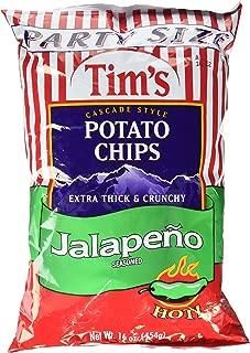 Tim's Cascade Chips Jalapeno, 16 Ounce