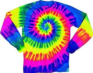 Faded Spiral Adult Tie Dye Long Sleeve T-Shirt Tee