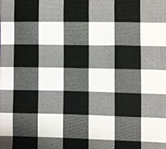 GFCC Black/White Gingham Checkered Polyester Tablecloth Round Picnic Tablecloth,120-Inch
