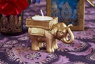Kate Aspen Lucky Elephant Golden Tealight Holder