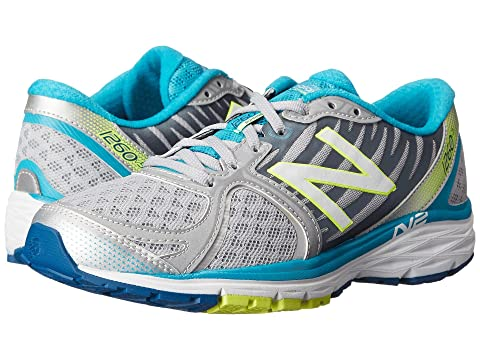 New Balance W1260v5 Silver/Blue Women's Running Shoes 8550204