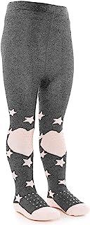 LaLoona baby bedding, Laloona Baby - Leotardos para gatear con suela ABS - Leotardos antideslizantes con puntos para niños - Estrellas Gris/rosa