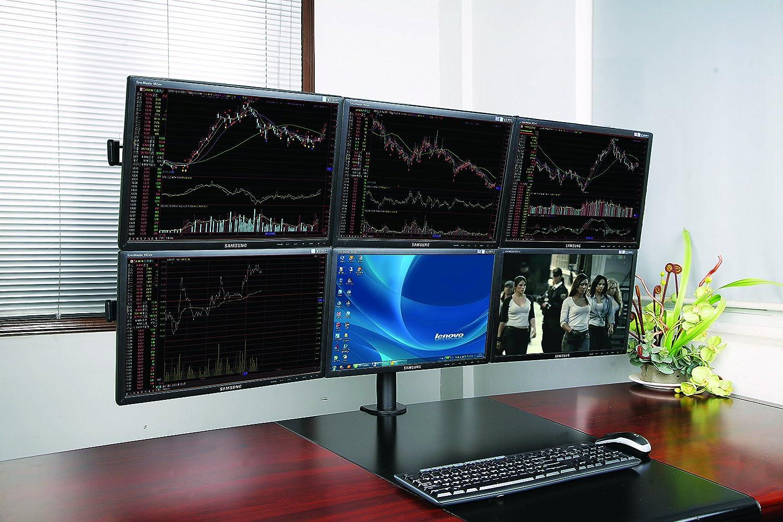 XtremPro 6 Monitors Desk Mount Bracket, 13