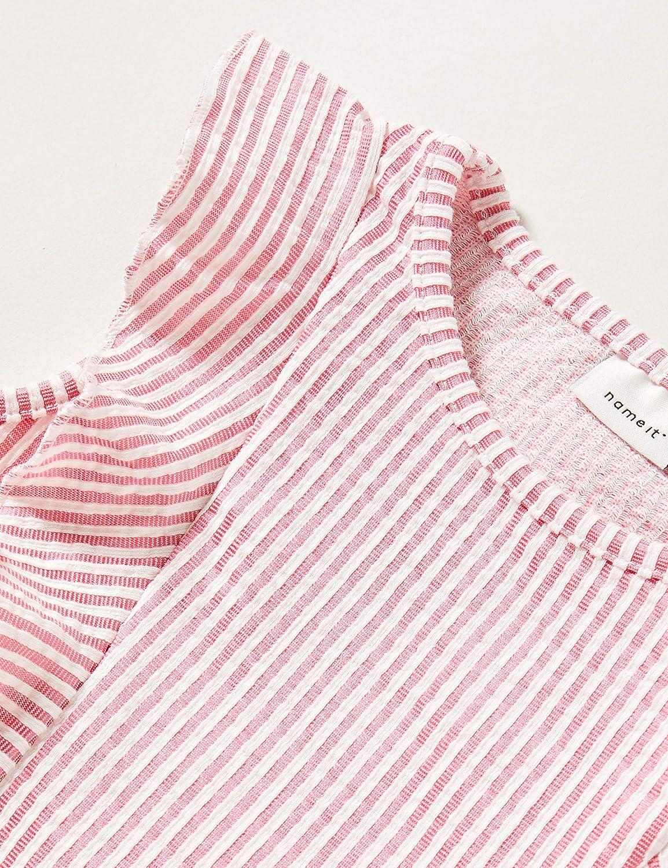 NAME IT Nmffastripe Cap SL Top Camiseta sin Mangas para Ni/ñas