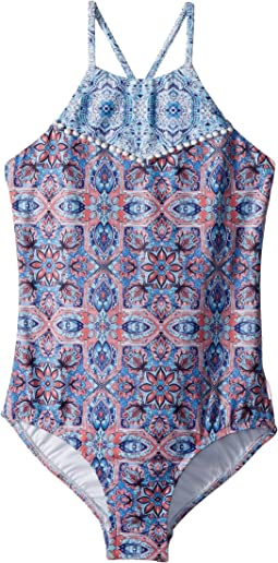 Boho Tile Tank One-Piece (Little Kids/Big Kids)