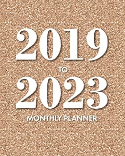 2019-2023 Monthly Planner: Rose Gold Glitter: 5 Year Monthly Planner with Holidays, 60 Month Planner Calendar 8x10