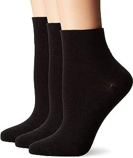 Women's Flat Knit Ankle Socks 3-Pack