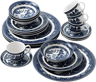 Johnson Brothers Willow Blue 20 Piece DinnerwareSet