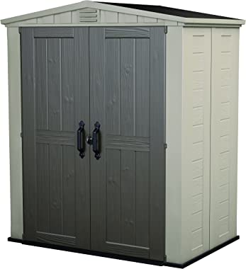 Keter Factor 6x3 Outdoor Storage Shed Kit-Perfect to Store Patio Furniture, Garden Tools Bike Accessories, Beach Chairs and P