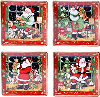 Certified International Santa's Workshop Dinner Plates (Set of 4), 10.25