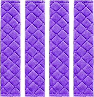 4 Pack Car Seat Belt Pads Seatbelt Protector Soft Comfort Seat Belt Shoulder Strap Covers Harness Pads Helps Protect Your Neck and Shoulder (Purple)