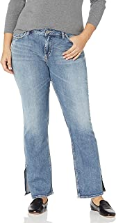 Silver Jeans Co. Women's Plus Size Avery Curvy Fit High Rise Bootcut Jeans With Vent