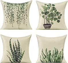 All Smiles Plants Outdoor Throw Pillow Covers for Patio Furniture Garden Bench Porch Spring Green Decorative Cushion Cases...