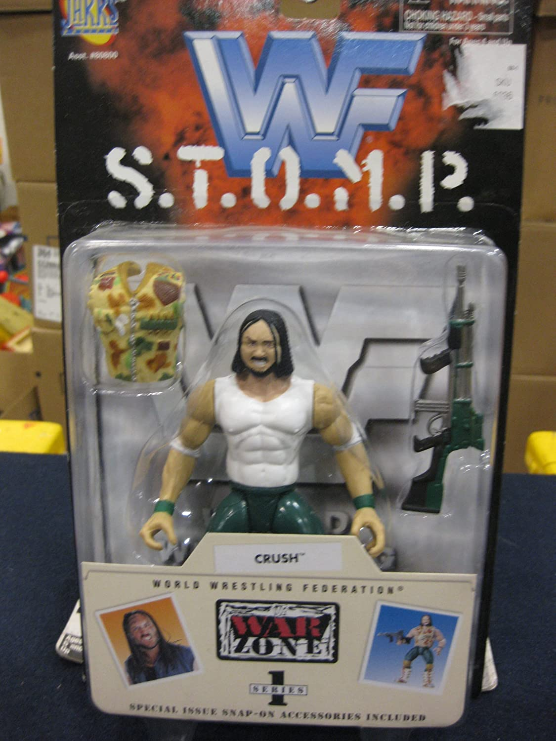 Crush Action Figure  WWF S.T.O.M.P. War Zone Series 1