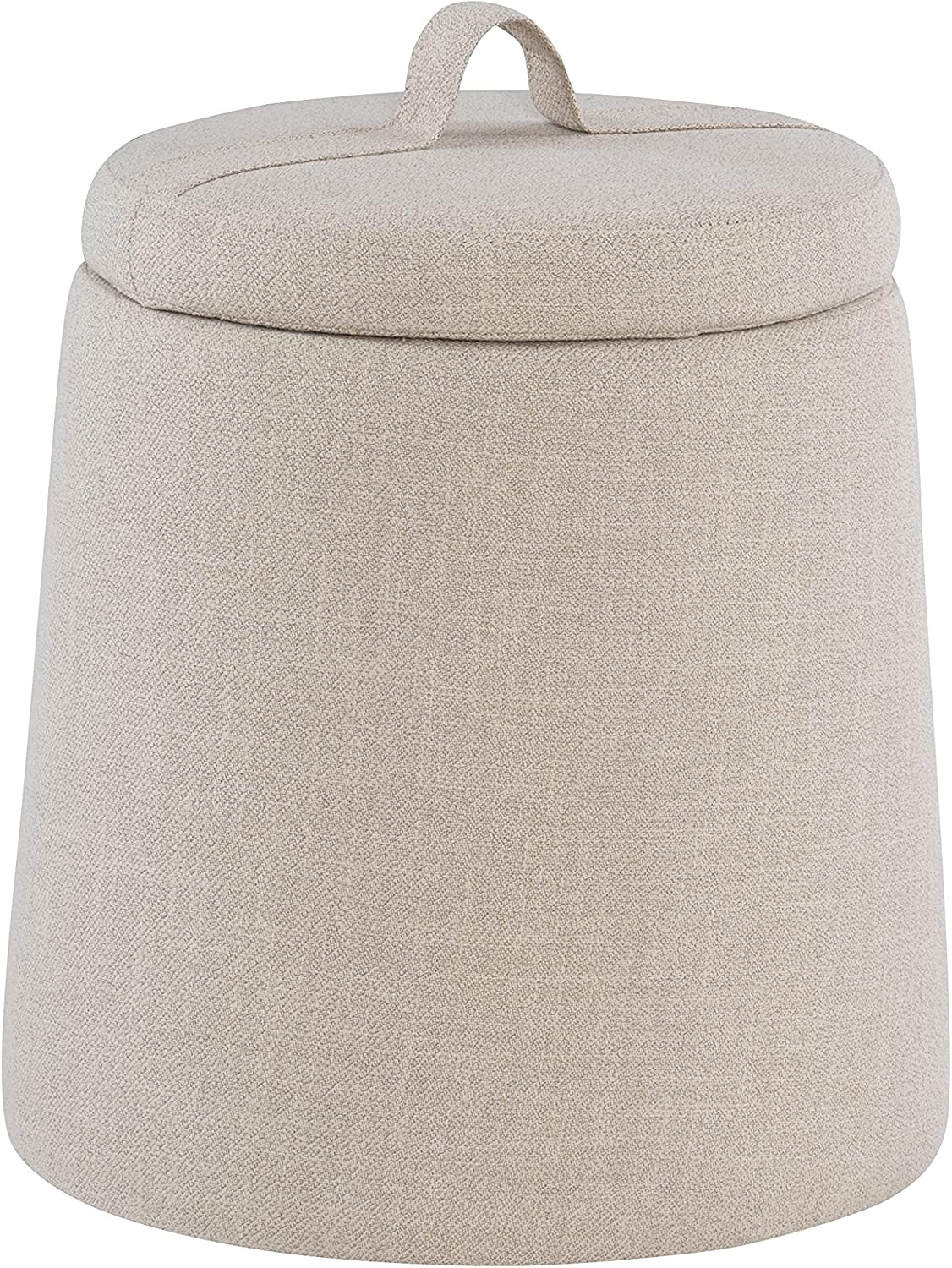 Linon Home Décor Beige National products Ottom Storage Max 76% OFF Upholstered Brentwood