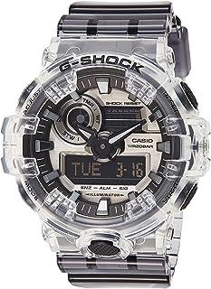 ساعة انالوج بعقارب ورقمية بسوار راتنج للجنسين جي شوك من كاسيو GA-700SK-1ADR - شفاف