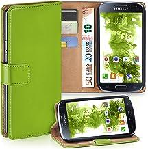 MoEx® Funda Cartera [protección 360°] Compatible con Samsung Galaxy S4 | Cierre magnético, Vert