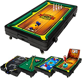 Franklin Sports 5 in 1 Sports Center Table Top, 18.5 x 10.5 x 3-Inch, Multicolor
