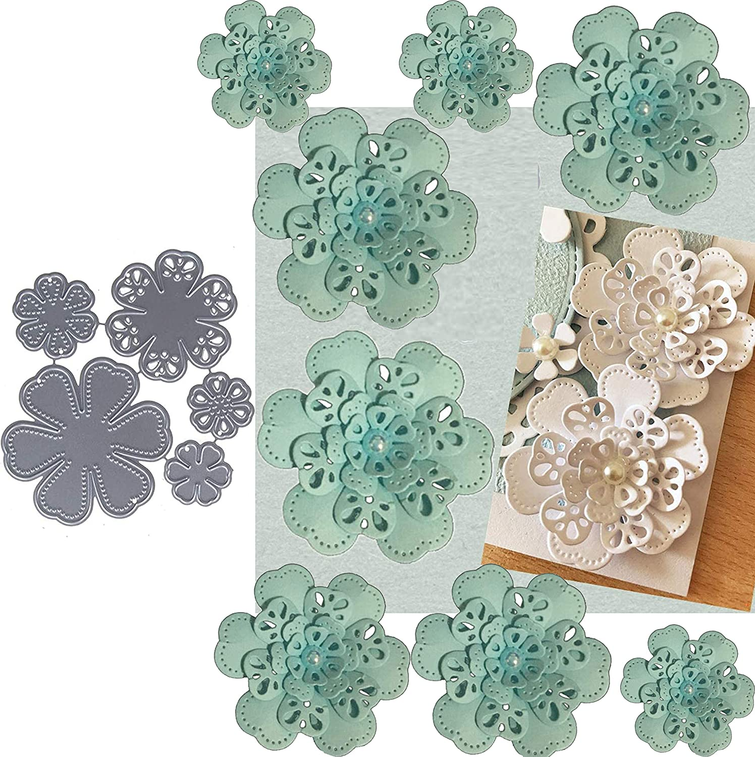 5pcs Flower Leaf Metal Die Leaves Christmas Cuts Direct store Don't miss the campaign Cutting