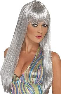 silver glitter wig