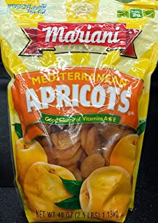 Mariani Mediterranean Apricots   Premium Deliciously Fresh Sweet Apricots Nutritious Benefits Excellent Source of Vitamin ...