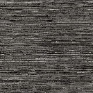 RoomMates Grasscloth Grey Peel and Stick Wallpaper
