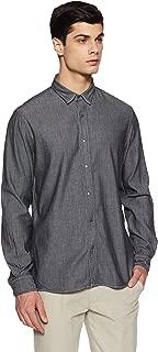 Arrow Jeans Men's Solid Slim Fit Casual Shirt