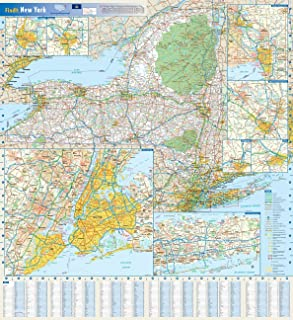 New York State Wall Map - 25