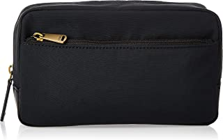 "Fossil Men's Top Zip Shave Kit Handbag Organizer, Black, 9"" L x 3"" W x 5"" H"