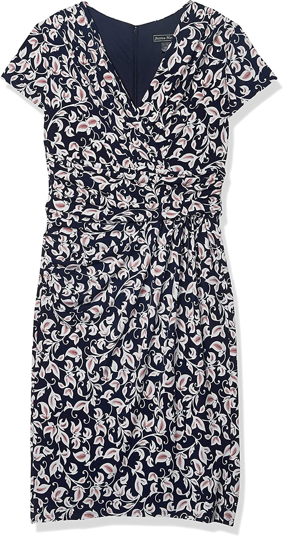 Jessica Howard Women's Side Ruched Sheath Dress