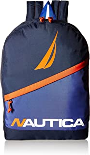 Nautica Men's Polyester Lightweight Backpack with Padded Laptop Sleeve