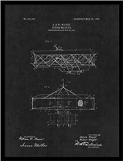 """ماكينة الطيران سبوت كلر ارت PATENT150005BK-2229BK 1906، 22"""" x 29"""""""