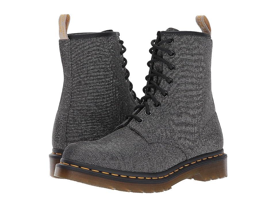 Dr. Martens Vegan Castel 8-Eye Boot (Gunmetal Serge) Women