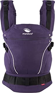 manduca First Babytrage > PureCotton Purple < Baby- und Kindertrage aus Bio-Baumwolle Soft & Fusselfrei Bauch- Hüft- und Rückentrage für Kinder von 3,5 bis 20kg, lila