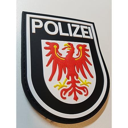 Atg Ärmelabzeichen Polizei Brandenburg 3 D Rubber Patch Farbig Auto