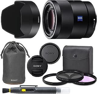 Sony Sonnar T FE 55mm f / 1.8ZAフルフレームレンズwith AOM Proキット。Includes : UVフィルター円形偏光フィルタ、蛍光灯、日フィルタ、Sonyレンズフード、フロント&リアキャップ–インターナショナルバージョン