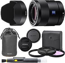 Sony Sonnar T FE 55mm f/1.8 ZA Full Frame Lens with AOM Pro Kit. Includes: UV Filter, Circular Polarizing Filter, Fluoresc...