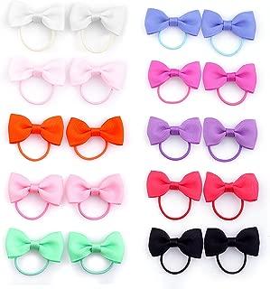 Baby Girls Bow Elastic Ties,Ponytail Holders,Hair Bands,Hair Elastics,Value Set