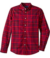 Polo Ralph Lauren Kids - Plaid Cotton Oxford Shirt (Big Kids)