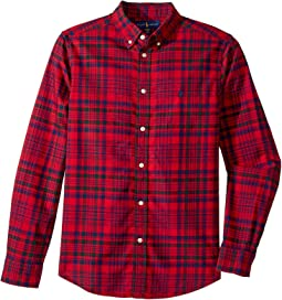 Polo Ralph Lauren Kids - Plaid Cotton Oxford Shirt (Big Kids)