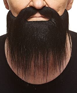 Mustaches Self Adhesive, Novelty, Long Boxed Fake Beard, False Facial Hair, Costume Accessory for Adults