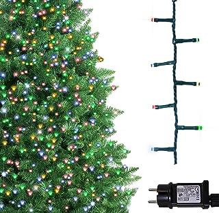 comprar comparacion Árbol de Navidad Luces 500 LED 12.5m Multicolor Luces interiores/exteriores Decoraciones Luces de cuerda de hadas Alimenta...