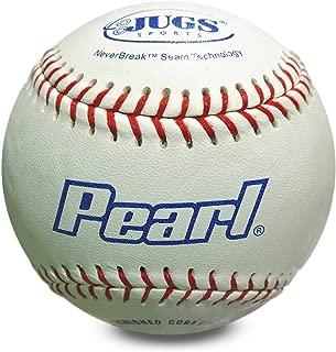 Jugs Pearl Leather Baseballs (One Dozen)