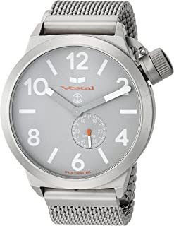 Vestal 'Canteen Metal' Quartz Stainless Steel Casual Watch, Color Silver-Toned (Model: CNT453M09.MSVM)