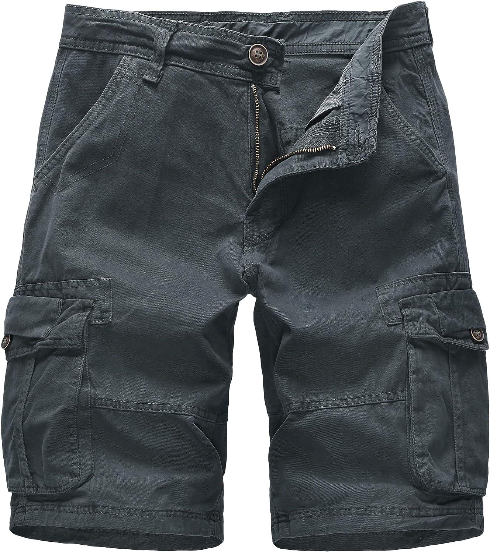 Cargo Shorts Houston Mall for Men with Pockets Relaxed Fresno Mall Xalutec Cotton Fi Mens
