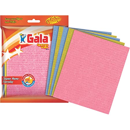 Gala Sponge Wipe for Kitchen 5 Pcs Pack (Multipurpose) (148995)