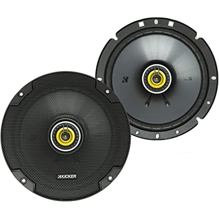 KICKER 46CSC674 CS Series Low Profile 6.75 Inch 3.3 Ohm 100 Watts RMS Power Factory Replacement Coaxial Car Audio Sound System Speakers (Pair)