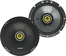$71 » KICKER 46CSC674 CS Series Low Profile 6.75 Inch 3.3 Ohm 100 Watts RMS Power Factory Replacement Coaxial Car Audio Sound Sy...