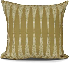 "E by design PG863YE22-26 Peace 1 Decorative Geometric Throw Pillow, 26"", Gold"