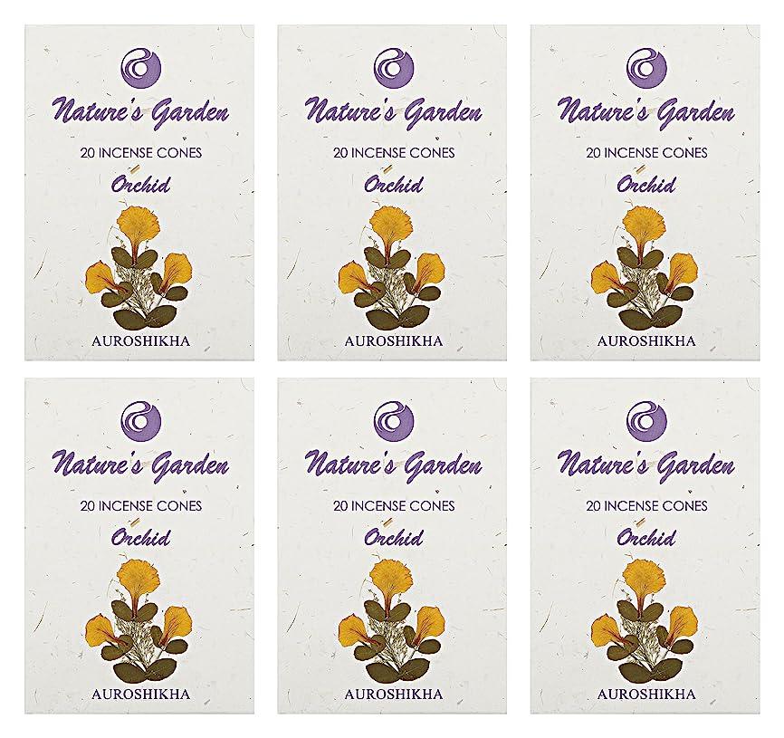 オーチャードであること白いAuroshikha Nature 's Garden Orchid Incense Cones、120?–?セットof 6